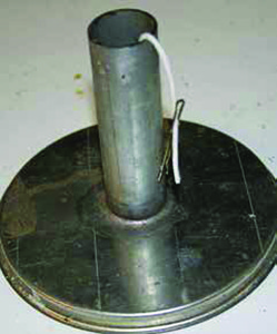 A mold helps keep the wick centered and gives the candle shape.